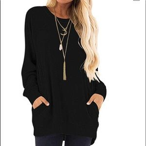 woman long sleeve t shirt blouse sweater